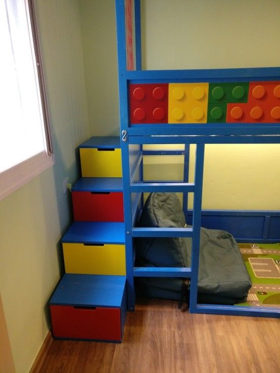 Kids Loft Kura Bed With Nordli Stairs Ikea Hackers Kura Bed Kid Beds Kids Loft