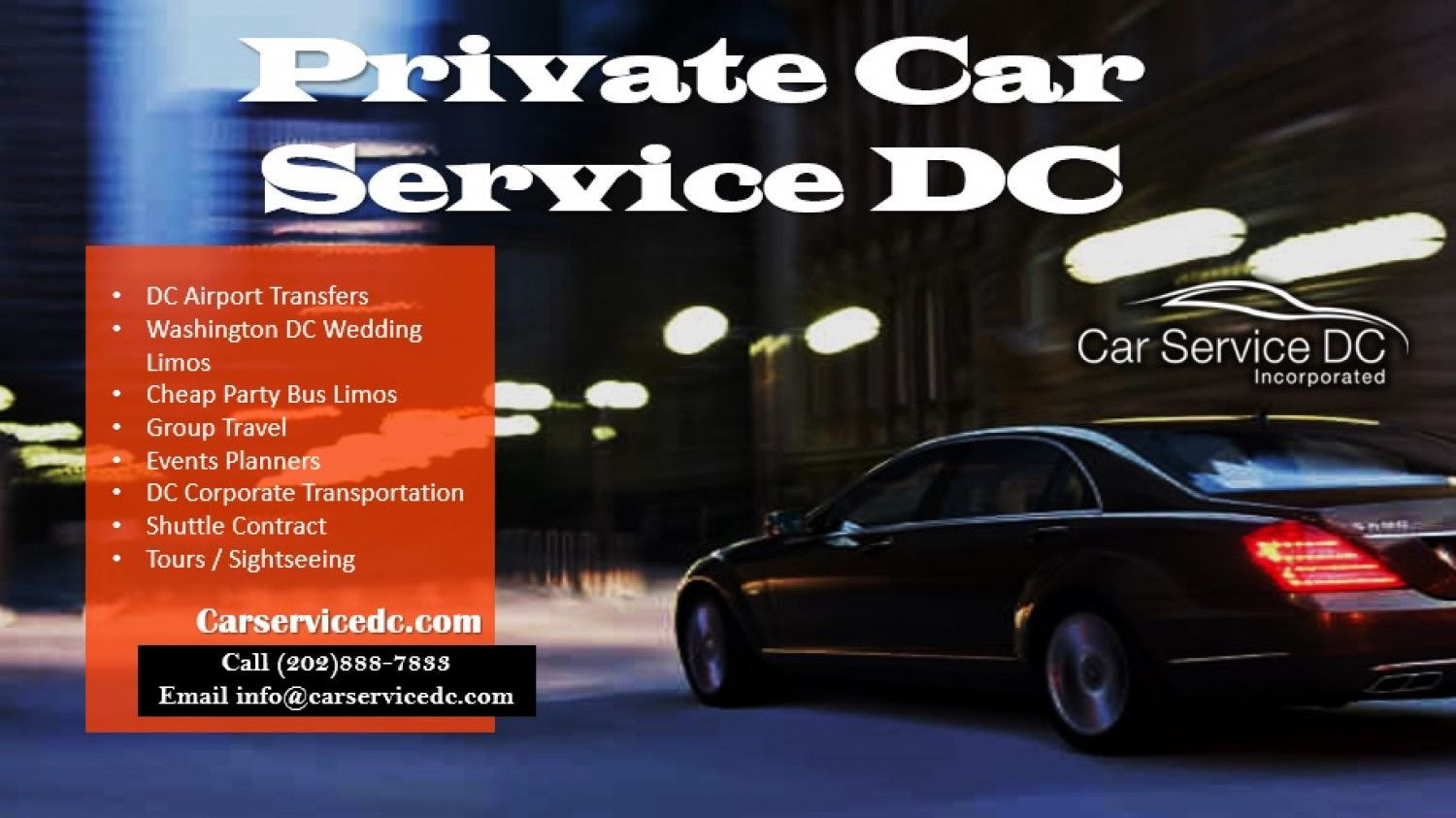 Private Car Service DC Visual.ly (With images) Private