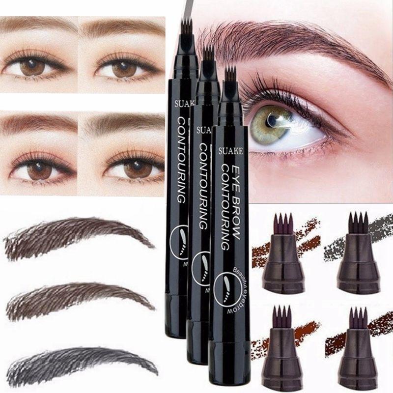 Henna Tattoo Pen Kit: 4 Fork Tip Fine Sketch Enhancer Eyebrow Tattoo Pen
