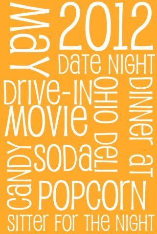 Monthly date night gift diy subway art gift crafts and diys monthly date night gift diy subway art gift solutioingenieria Image collections