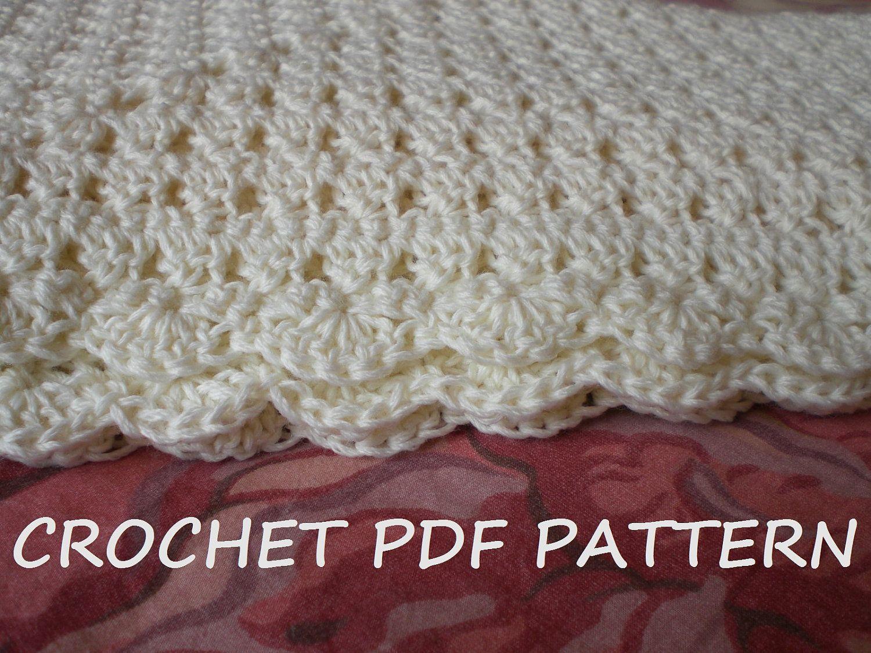 Crochet Baby Blanket Pattern. PDF 020 | Beginner crochet, Crochet ...