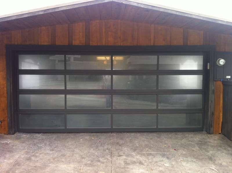 Full View Aluminum U0026 Frosted (Sandblast) Glass Garage Door   ALL .