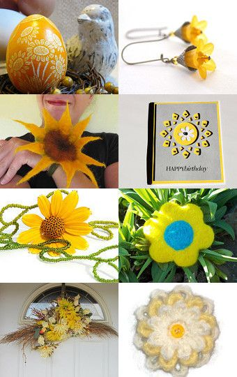 Sunshine and Flowers by Bonnie Sernesky on Etsy--Pinned with TreasuryPin.com