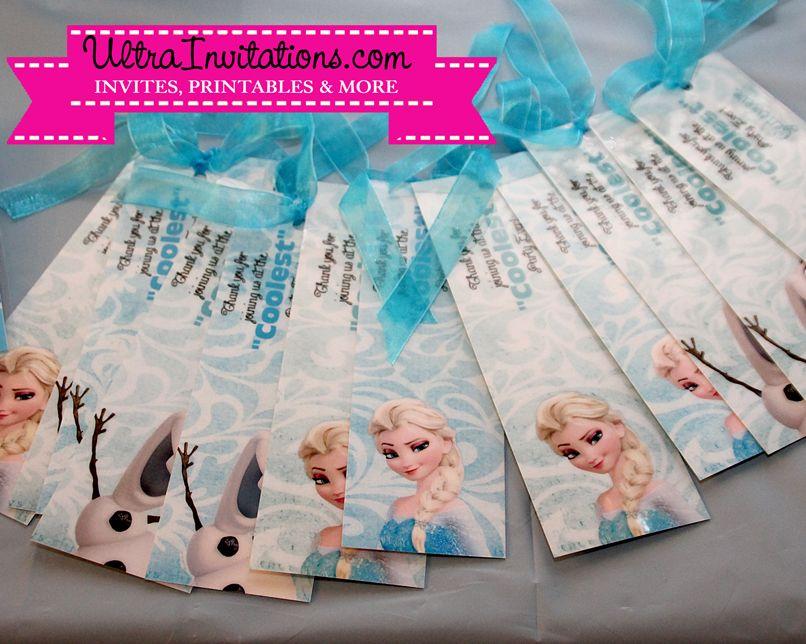 Bookmark Frozen Favor For Guests Birthdays Pinterest Frozen Favors Sle