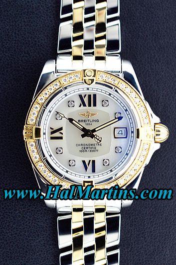 #Breitling Cockpit Lady C71356, $7,800.00.  #breitlingc71356 #breitlingwatches #ladieswatches