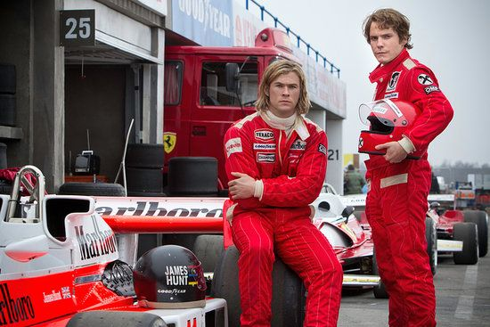 Rush: 2 Golden Globe nominations:  Best drama Best supporting actor, Daniel Brühl  2 SAG nominations:  Outstanding supporting male actor, Daniel Brühl Outstanding action stunt ensemble  4 Critics' Choice Award nominations:  Best supporting actor, Daniel Brühl Best editing, Daniel P. Hanley and Mike Hill Best makeup Best action movie