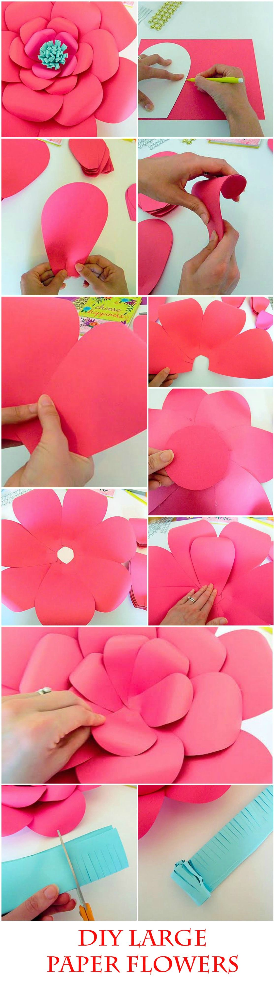 Wedding Craft Ideas To Love Diy Giant Paper Flower Templates