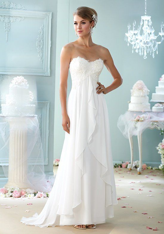 Tendance Robe du mariage 2017/2018 - Strapless a-line gown with ...