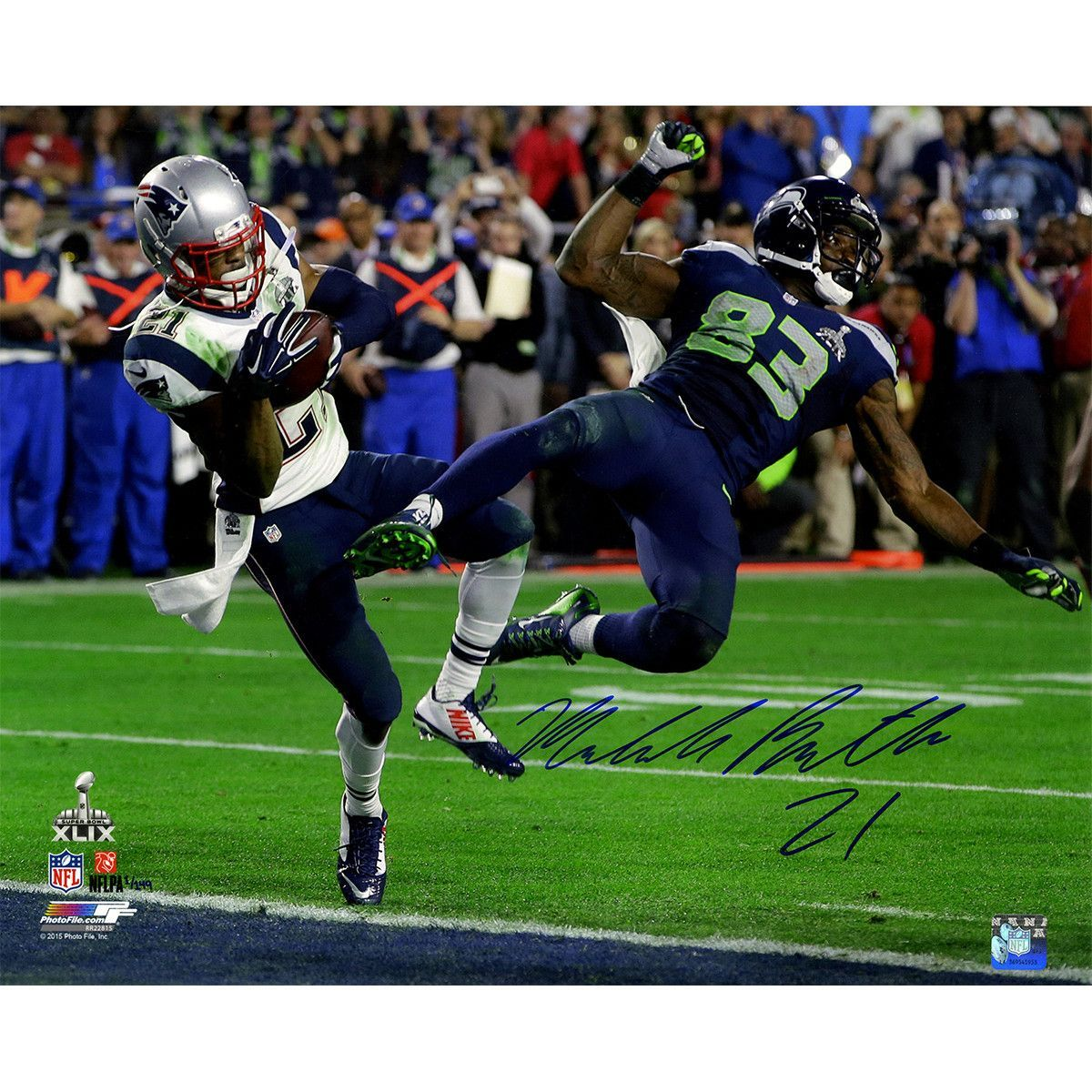 Malcolm Butler Signed Metallic Superbowl 49 INT 16x20 Photo (LE/149 ...
