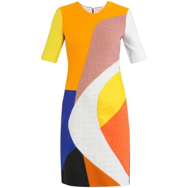 Roksanda Ilincic Kendricks multi-panel fitted dress ($1,415) ❤ liked on Polyvore