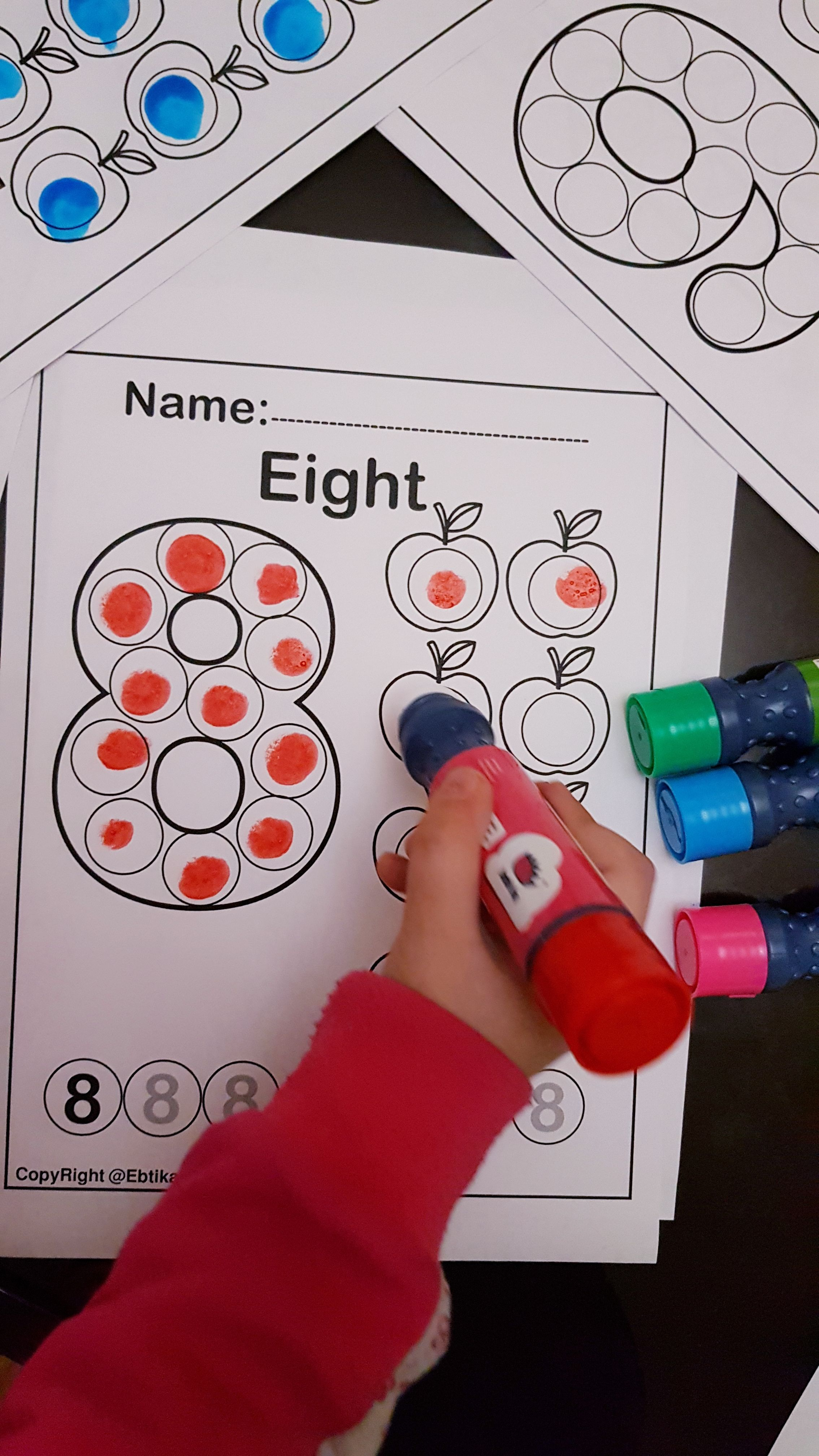 Free Printable Preschool Coloring Pages Dot Marker