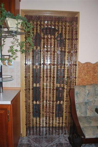 NEW Wooden beaded DOOR CURTAIN Handmade by ArtGateShop on Etsy ...