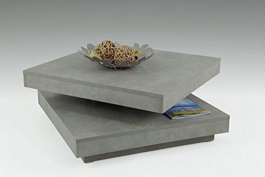 Amazon Wohnzimmertisch ~ Amazon.de: apollo 004408fsc couchtisch holz beton 78 x 78 x 34