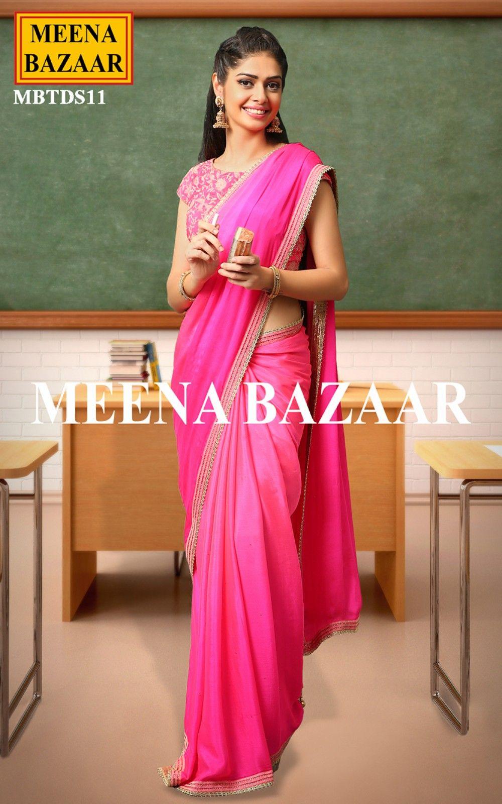 Dresses sarees suits lengha anarkali lehenga pink anarkali lehenga - Pink Chiffon Saree Sarees Online Shopping For Ethnic Wear Buy Designer Sarees Lehengas Chiffon Sareesarees Onlineanarkali Suitsdesigner