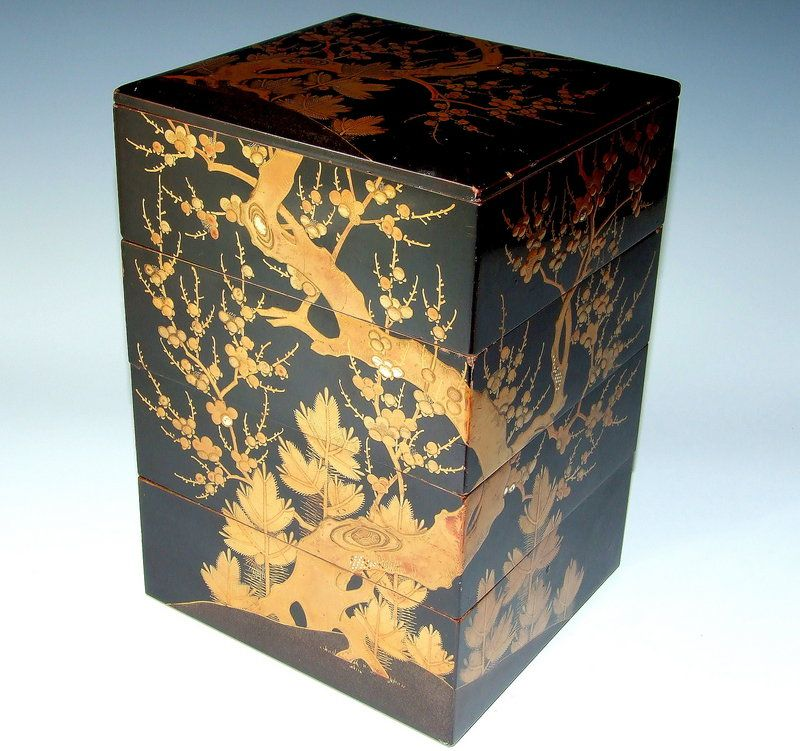 19thC Japanese Lacquer Jubako