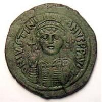 Justinian I - Byzantine Coinage - WildWinds com   Ancient Coins