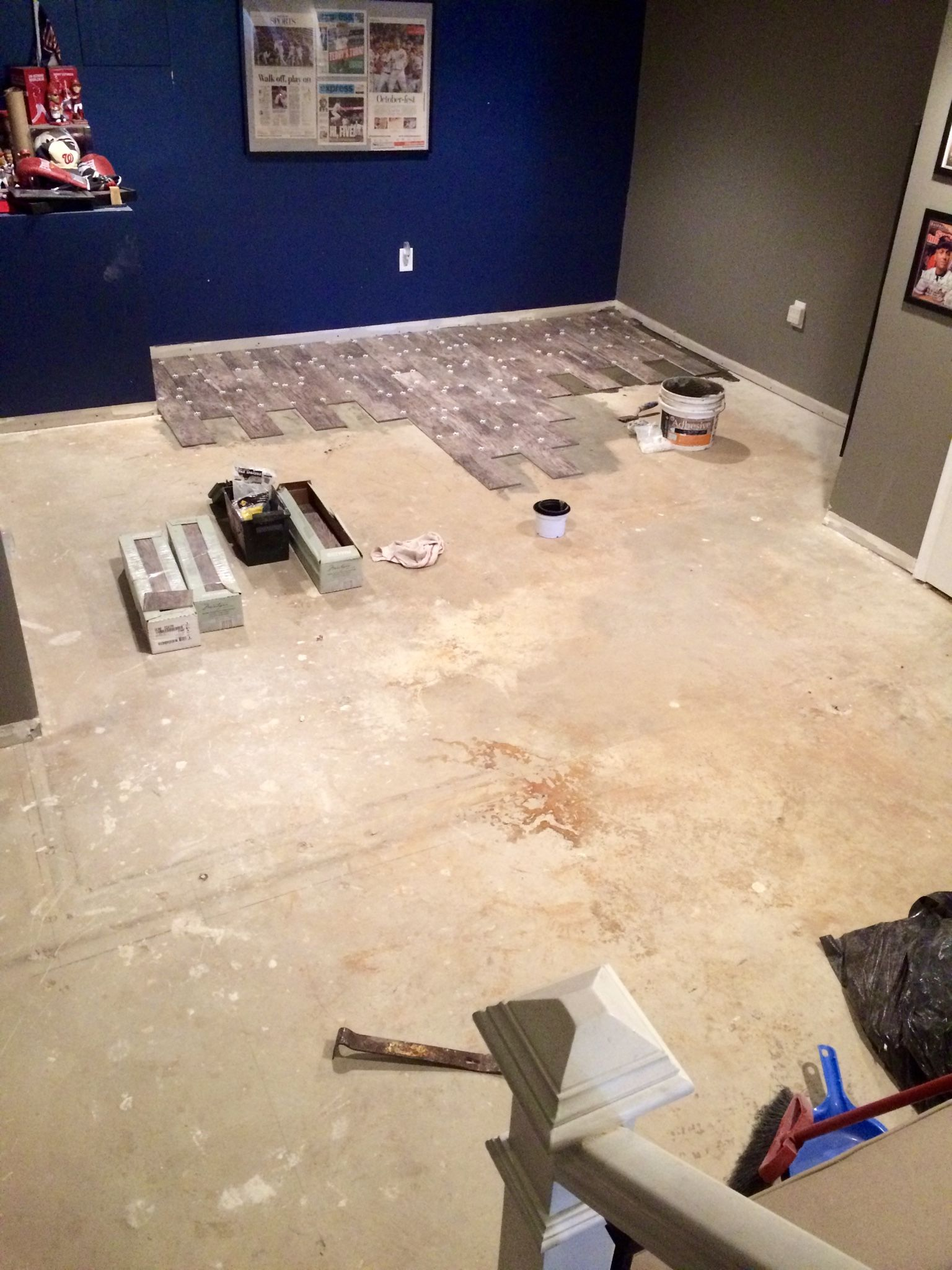 Fresh Carpet Basement Floor