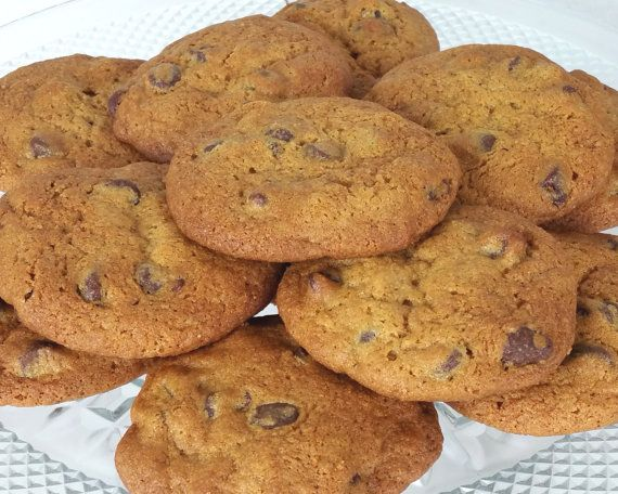 Fresh Homemade Chocolate Chip Cookies  1 Dozen Made by Eudaemonius  https://www.etsy.com/listing/480459045/fresh-homemade-chocolate-chip-cookies-1