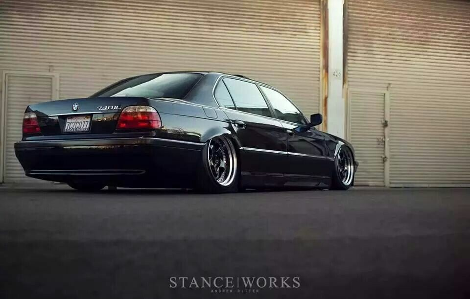 Bmw E38 7 Series Black Slammed Deep Dish Stanceworks With Images