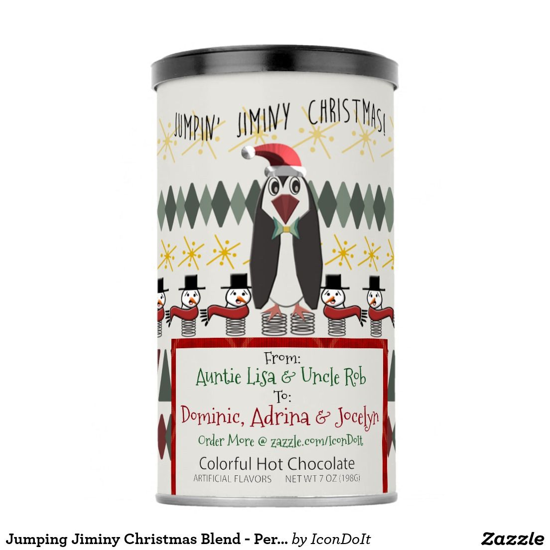 Jumping Jiminy Christmas Blend - Personalized Powdered Drink Mix ...