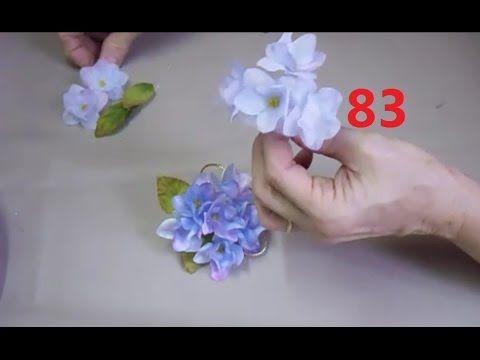 Aula 83 Como Fazer Hortensia Com Imagens Tutorial De Flor De