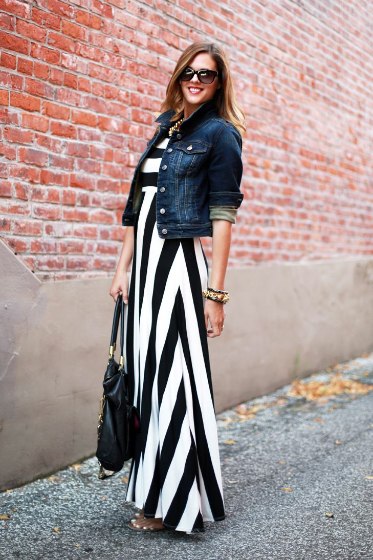 What I Wore: Denim & Stripes | BLOGGED | What I Wore ...