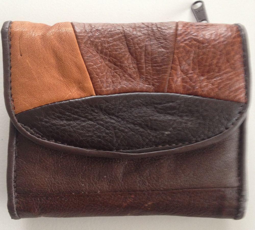 1ed5174248e Details about BRIGHTON Women's Black Leather Brown Croc Vintage ...