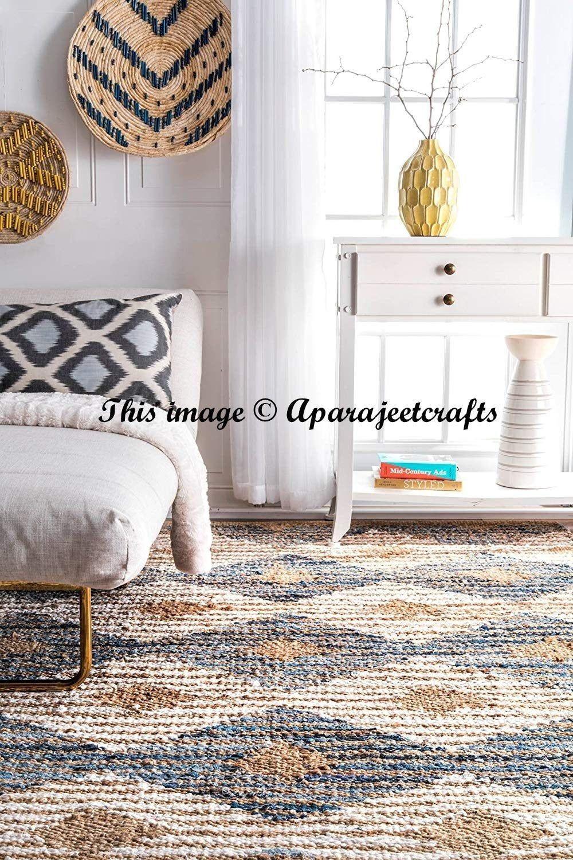 Rug Rag Table Rectangle Braided Cotton And Jute Rug Area Rug Meditation Mat Bohemian Home Decor Floor Rug U Rugs On Carpet Floor Area Rugs Area Rug Decor