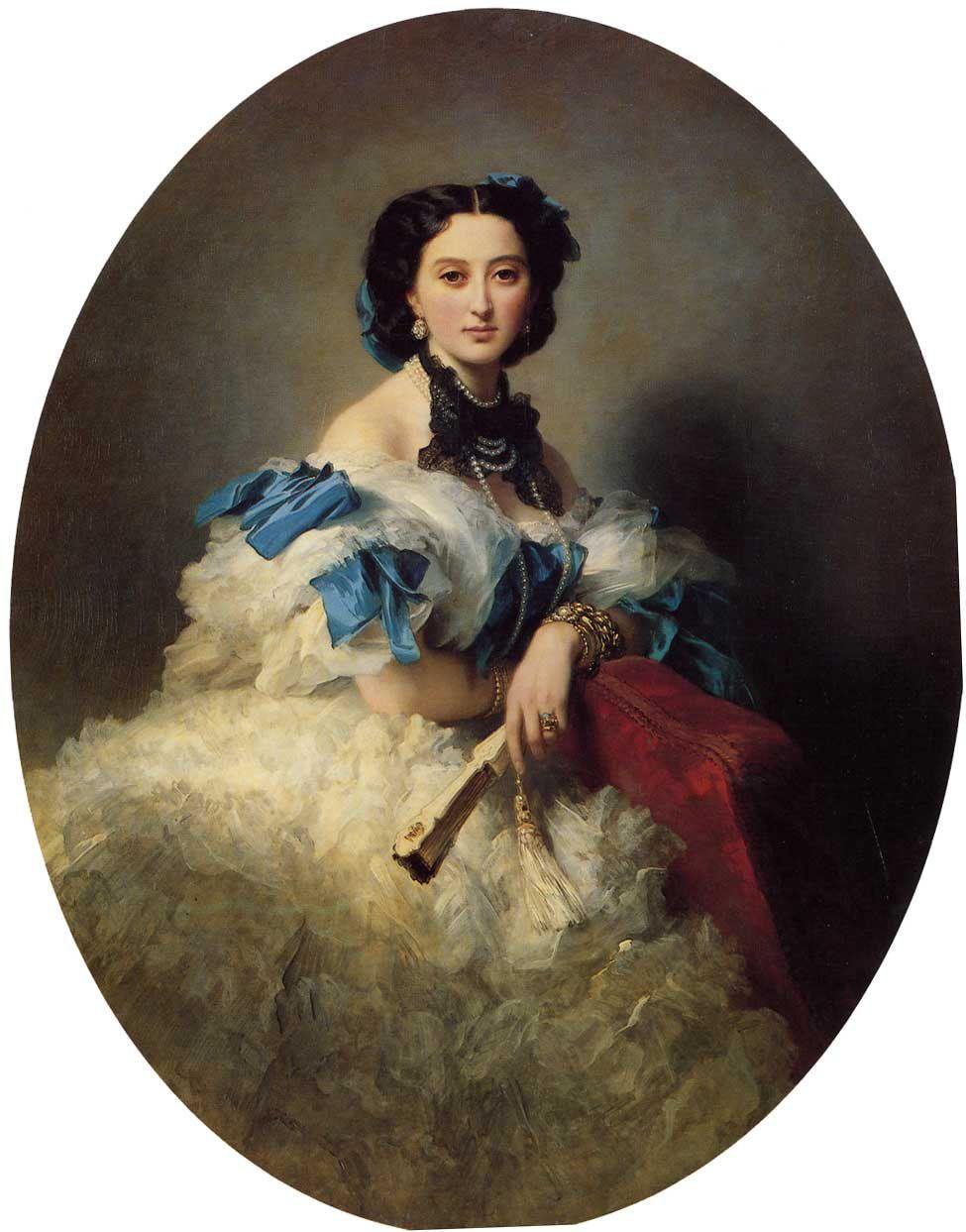 Countess Varvara Alekseyevna Musina-Pushkina :: Franz Xavier Winterhalter 1857