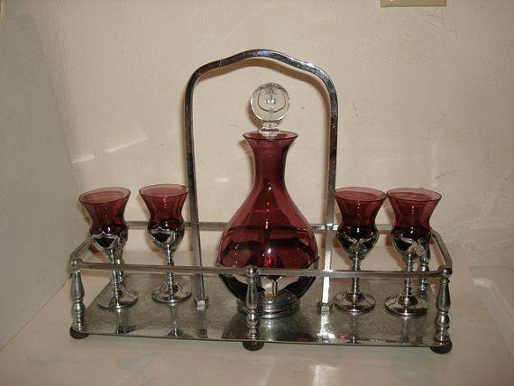 Art Deco Cambridge Amethyst Glass w/Farber by PastPossessionsOnly, $75.00