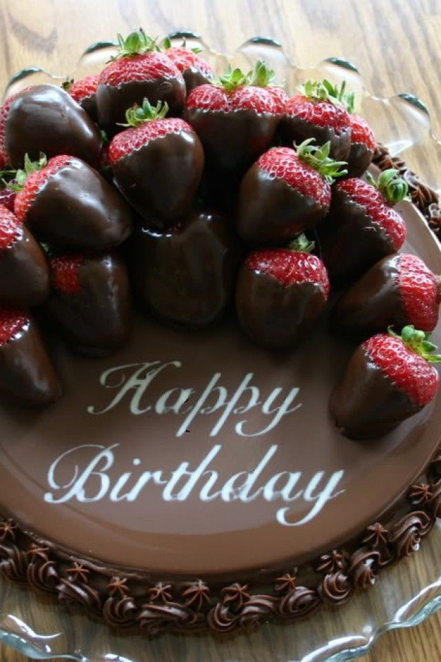 happy-birthday-chocolate-cake-with-strawberries ...
