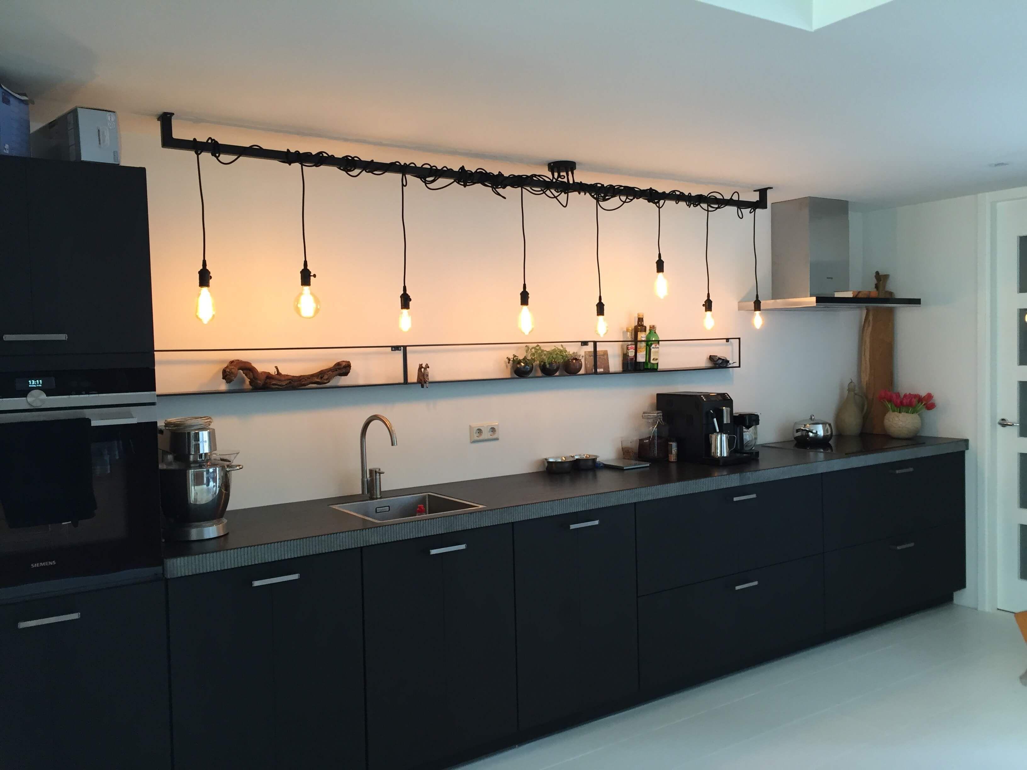 Industriële keuken of eettafel lamp kopen opvallend industrieel