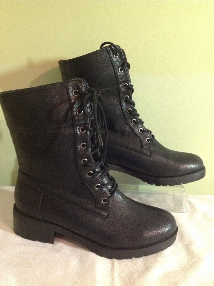 77d4cca53e15 Bongo Women s Pina Black Combat Boots Us Sz 9 M  Bongo  CombatBoots  Casual