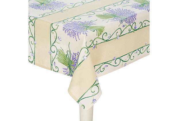 Lavender Bouquet Tablecloth on OneKingsLane.com