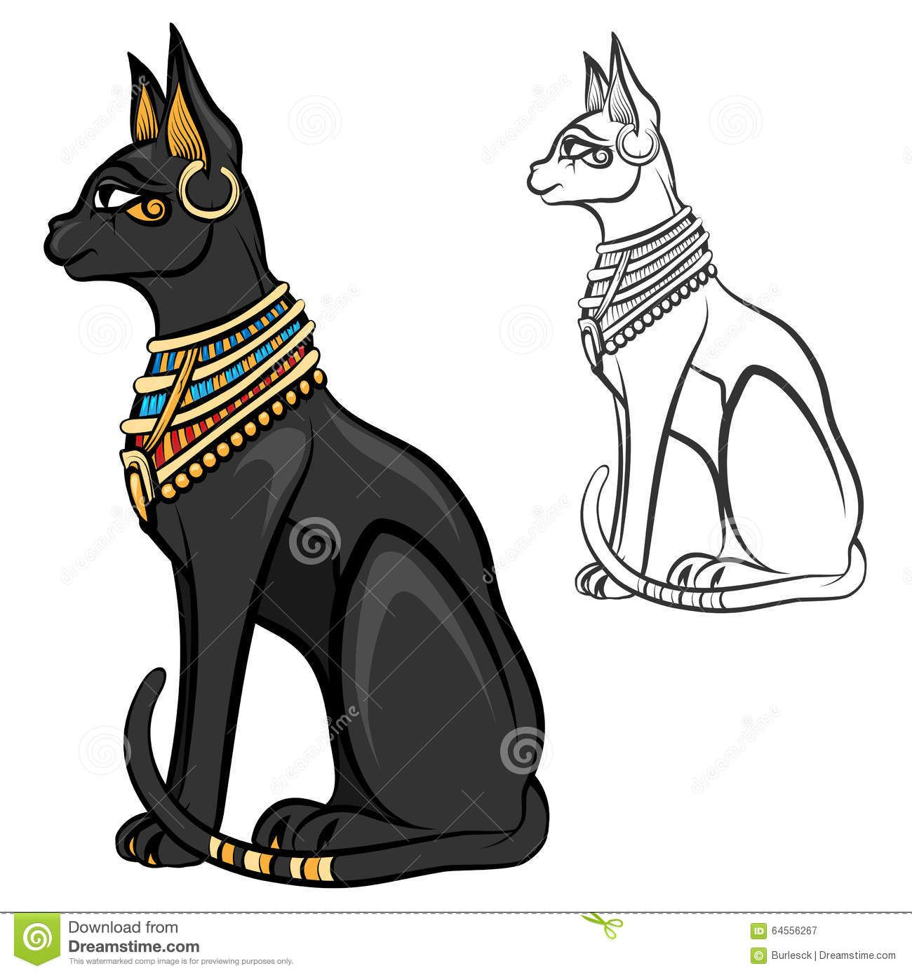 Ancient Egyptian Cat Symbols Egypt Cat Goddess Bastet Egyptian