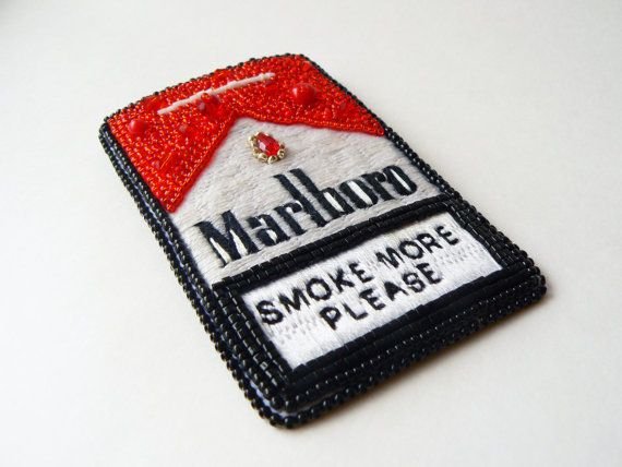 a802d7090b7b0 Marlboro pendant or brooch Cigarette pack by AlexandraRed on Etsy ...