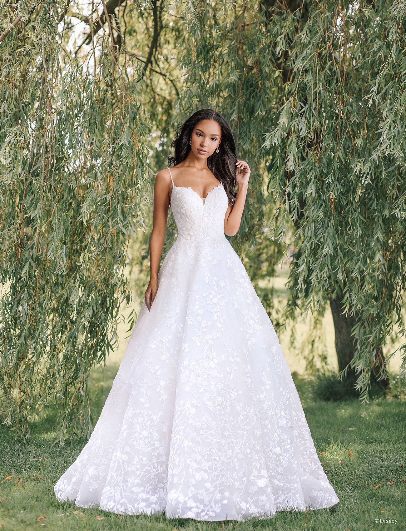 Once Upon A Wedding Dress New Allure Bridals Collection Inspired By Disney Princesses Disney Inspired Wedding Dresses Sparkle Wedding Dress Disney Wedding Dresses [ 1700 x 1300 Pixel ]