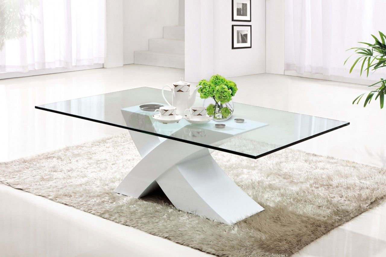 Inspiring Modern Glass Coffee Table As Fancy Furniture Styles