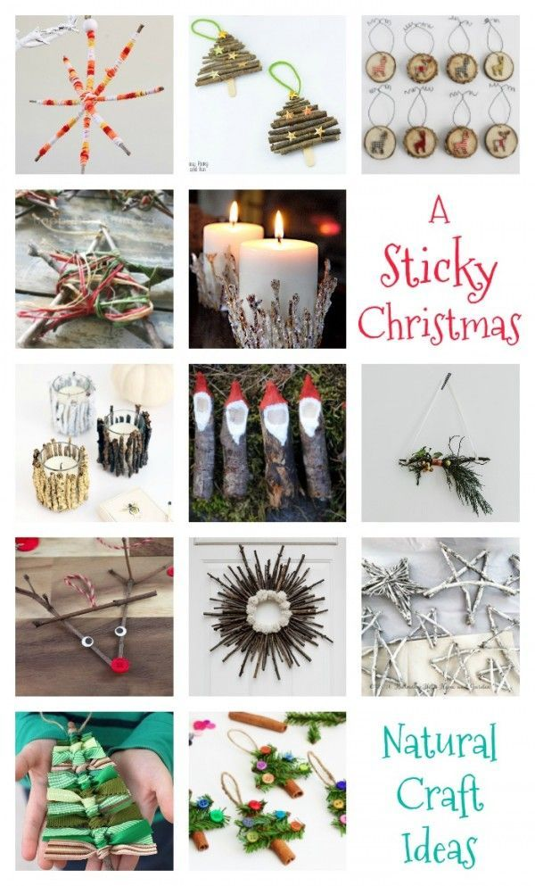 Natural sticky craft ideas for christmas for the whole family to diy christmas solutioingenieria Gallery