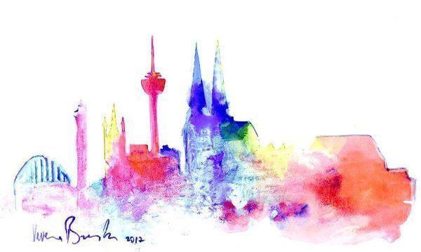 Du möchtest unter fachkundiger Anleitung unser motiv Skyline Köln malen? Dann …