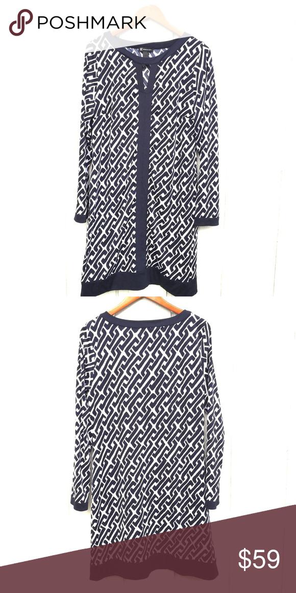 "INC Graphic Print Dress Beautiful bold print. Dress has some stretch to the fabric. Flat bust 21"", length 38"". INC International Concepts Dresses Midi"