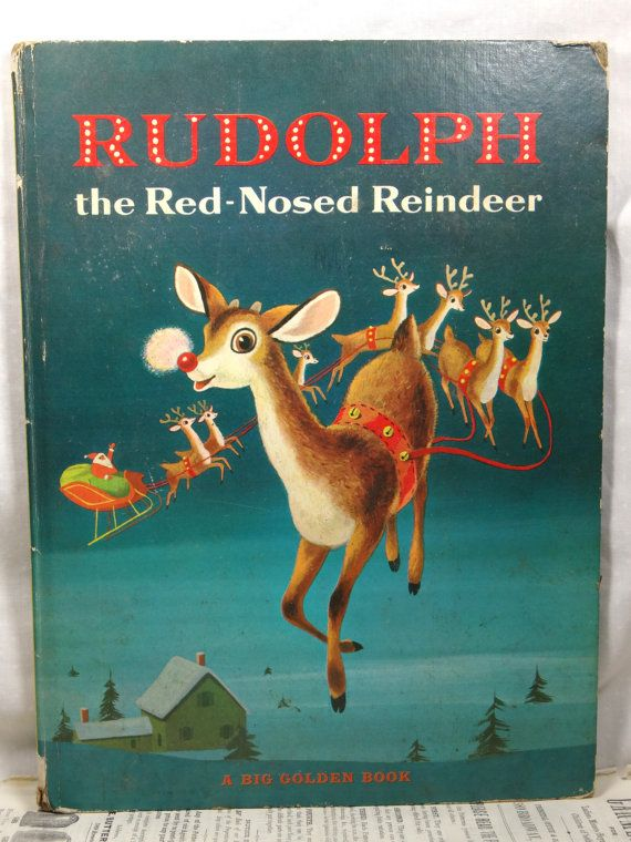 1958 Rudolph the Red Nosed Reindeer Christmas by SellItAgainBooks, $15.00