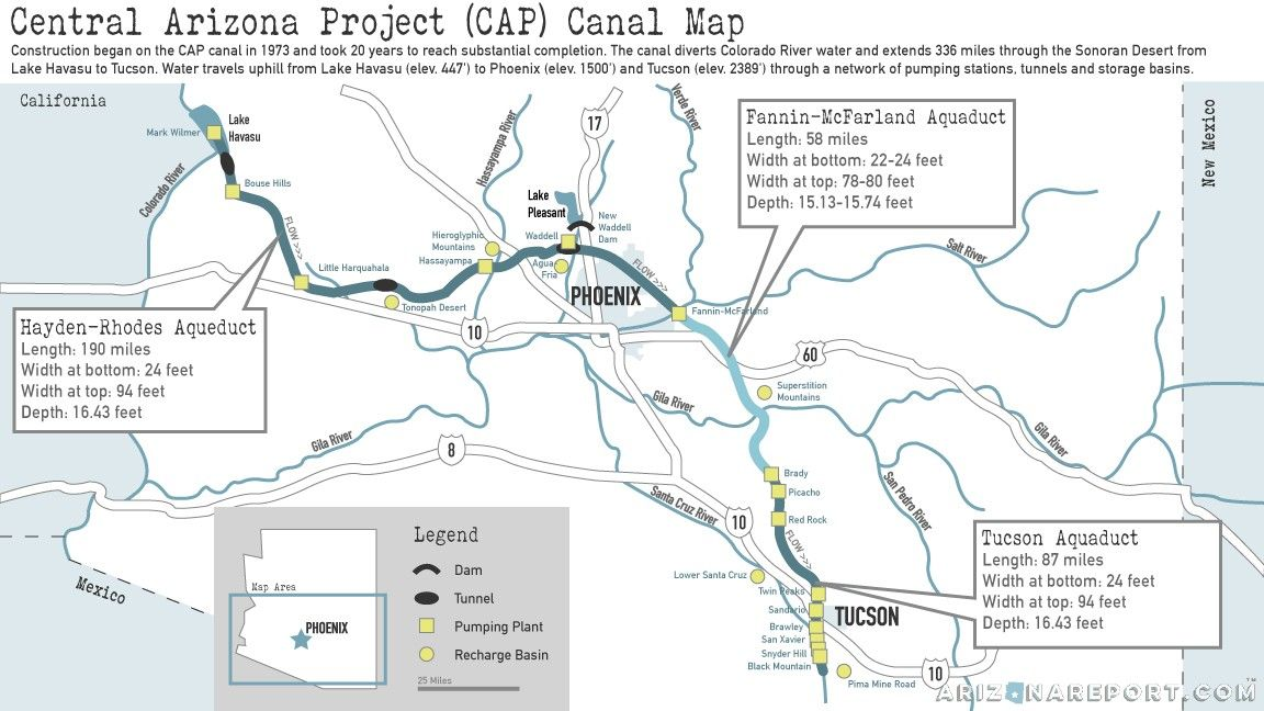 Map Of Central Arizona.10 Cap Facts The Canal That Made Modern Arizona With Images