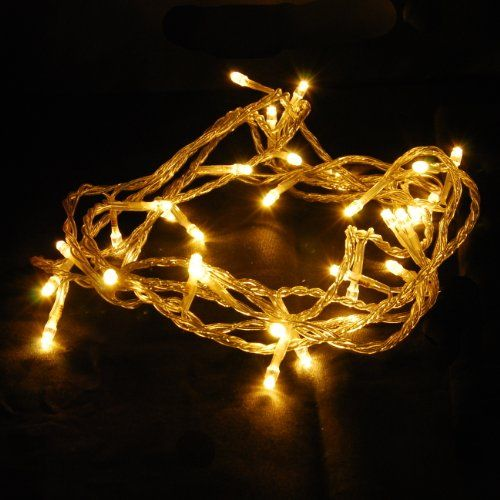 Abi 100 Count Led Christmas Light For Indoor Outdoor Decoration Warm White Click He Indoor Christmas Lights Led Christmas Lights Outdoor Christmas Lights