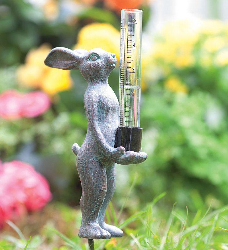 Rabbit Garden Rain Gauge