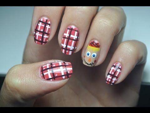 Cute Scarecrow Nail Art! | Nails, Autumn nails, Fall nail art