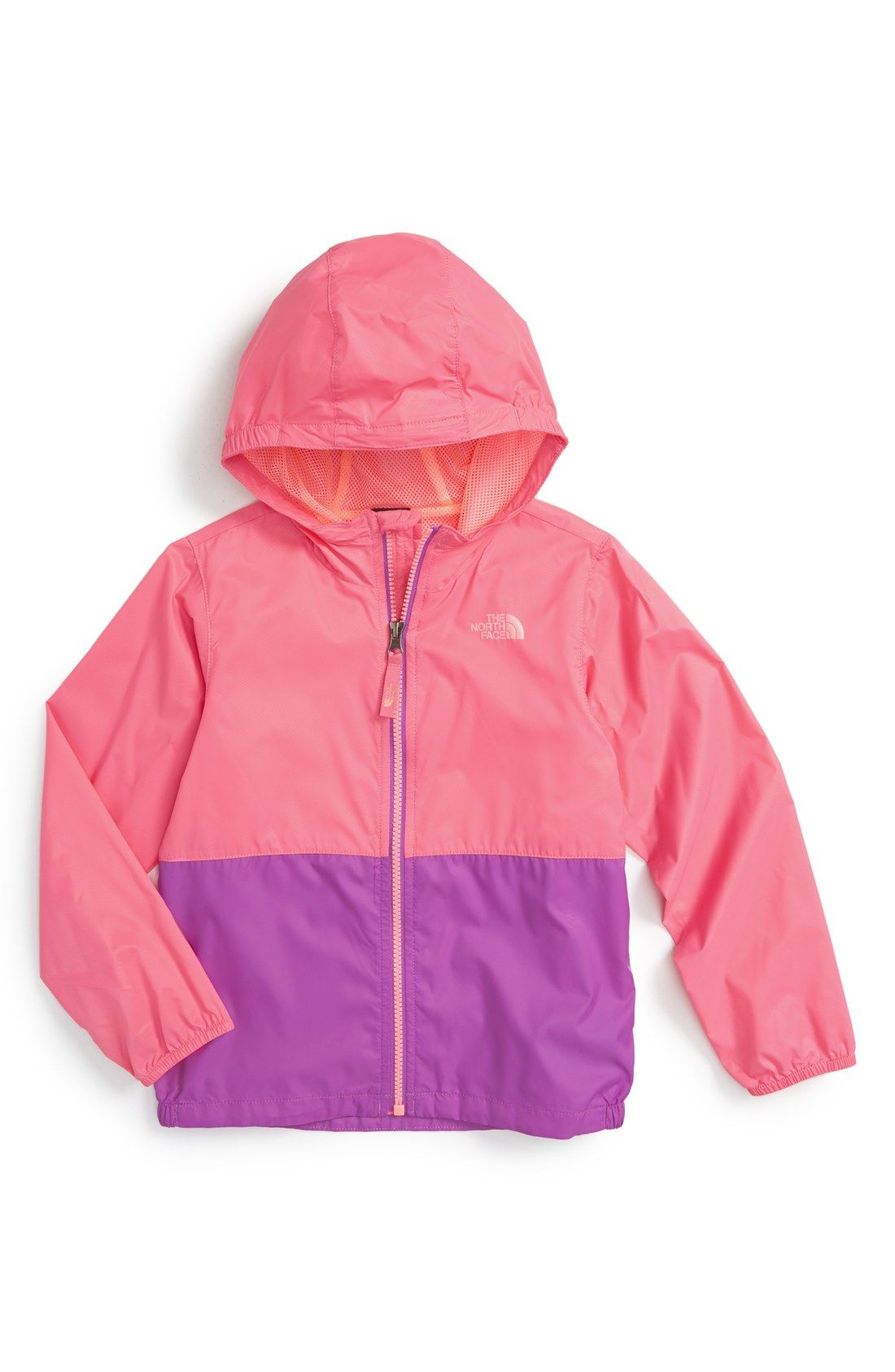 8c0a582e4 The North Face  Flurry  Colorblock Hooded Wind Jacket (Toddler Girls ...