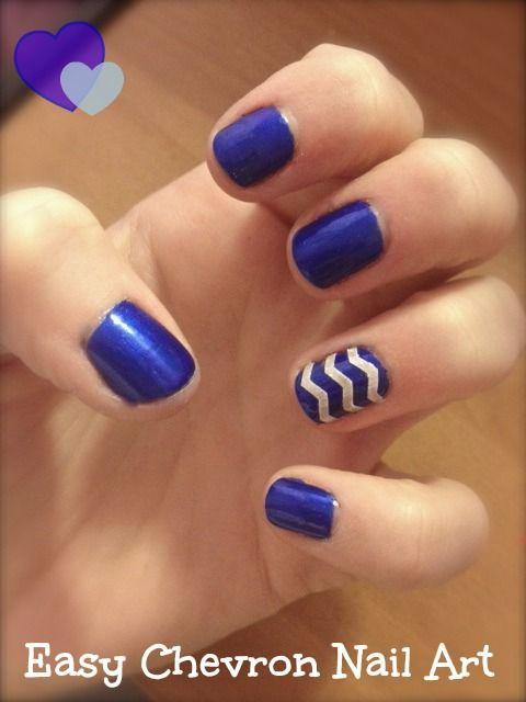 Simple, Quick Easy Chevron nail art | Chevron Nail Designs ...