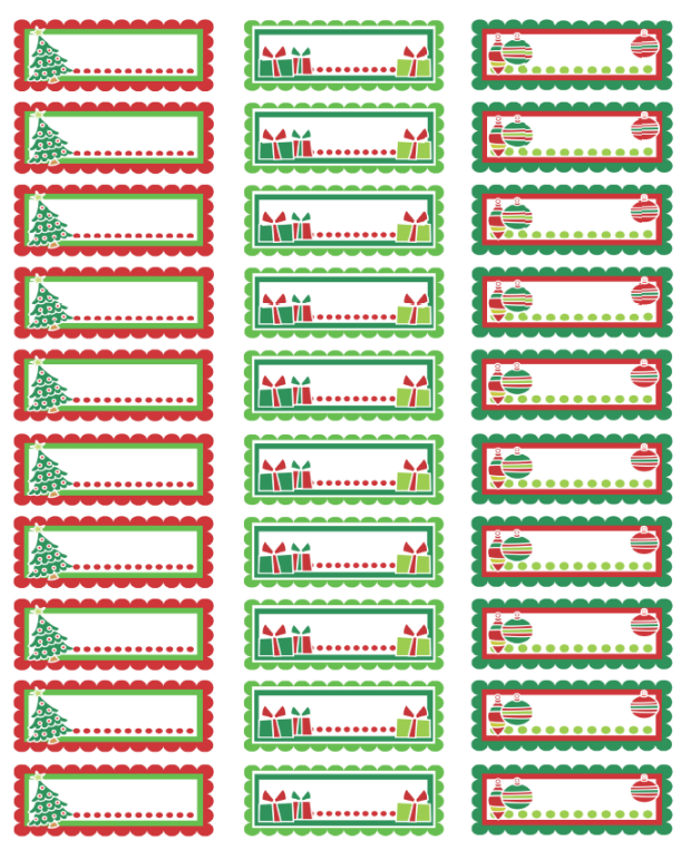 Christmas Address Labels Colorful In A Pdf Template Ready To Print