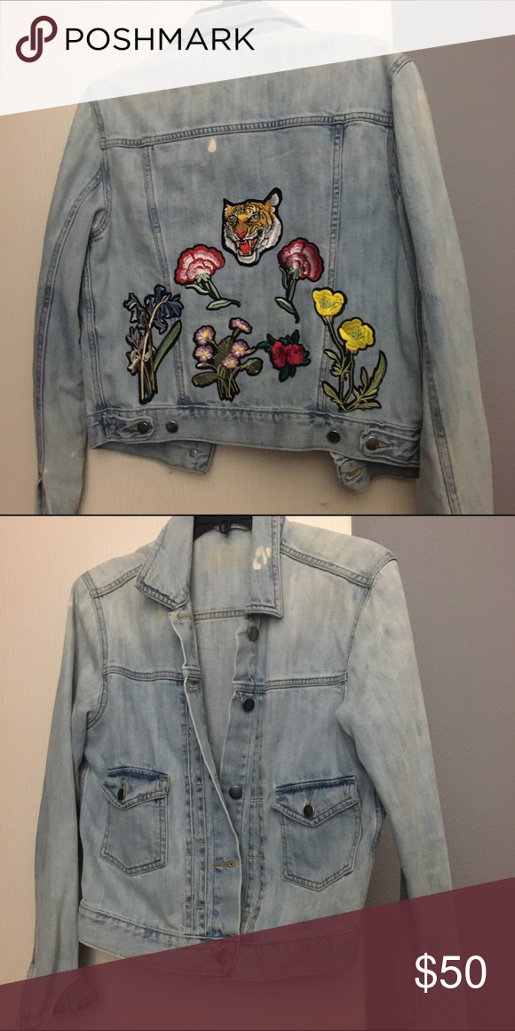 Vintage patched denim jacket Patched denim jacket. Not Zara brand Zara Tops